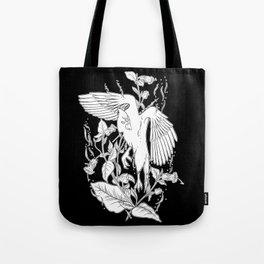 Deadly Nightshade & Bird Tote Bag