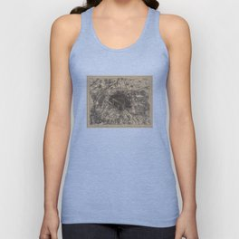 Vintage Map of Paris France (1907) 2 Unisex Tank Top