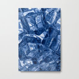 Ice cubes background Metal Print