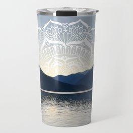 Pacific Northwest Lake Mandala Sunset Travel Mug