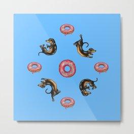 Dachshunds & Donuts Metal Print