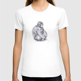 Snow monkey and baby T-shirt