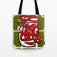 liverpool Tote Bags featuring Suarez - Liverpool  by Ray Kane
