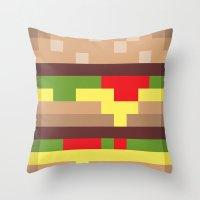 mac Throw Pillows featuring Bit Mac by Marc Beaudette