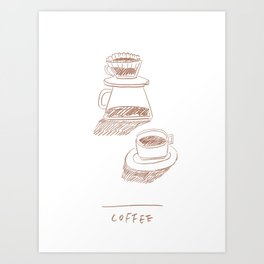 coffee hand-drip time Art Print