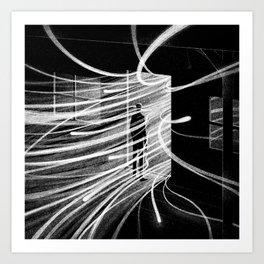 Drawlloween 2015: Haunted house Art Print