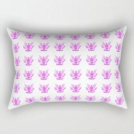 pink patriots, pink American Eagle Rectangular Pillow