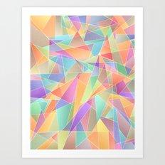 The Geometric Glass Shatter Art Print