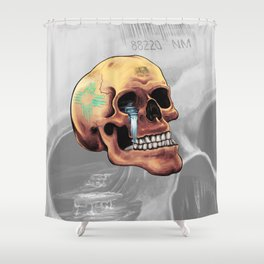 Zia Skull Shower Curtain