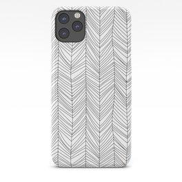 Wabi Sabi Herringbone Pattern iPhone Case