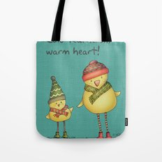 Two Chicks - teal Tote Bag