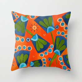 Floral Three Throw Pillow