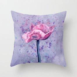 Lavender Floral Throw Pillow