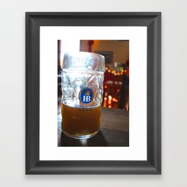 Drink Like a German Framed Art Print