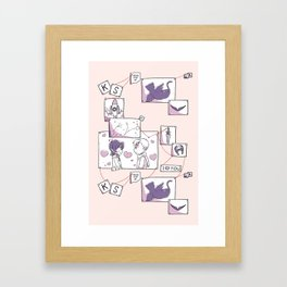 Corkboard to Love Framed Art Print