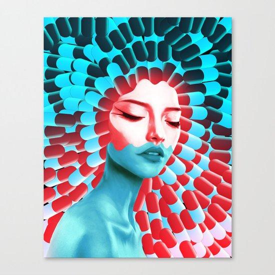 Blue pill, red pill? Canvas Print