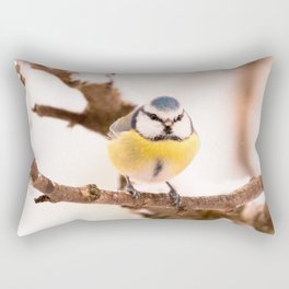 Blue tit on a branch #decor #buyart #society6 Rectangular Pillow