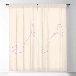 Scorpio Zodiac Constellation Mauve Blackout Curtain