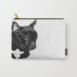 Pouting Frenchie Carry-All Pouch