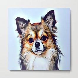 The Chocolate Pomeranian Metal Print