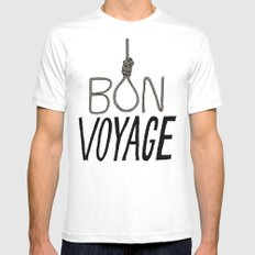Bon Voyage White LARGE Mens Fitted Tee