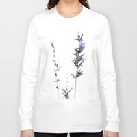 lavender Long Sleeve T-shirts featuring Lavender by Renee Ansell