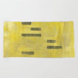 Stasis Gray & Gold 3 Beach Towel