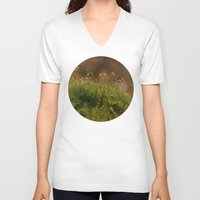 moss V-neck T-shirts featuring Moss by A Wandering Soul