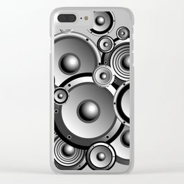 Abstract music illustration Clear iPhone Case