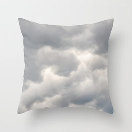 A bunch of rainy clouds Throw Pillow