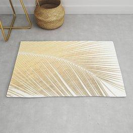 Palm leaf - gold Rug
