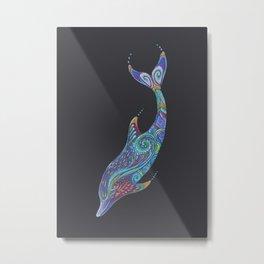 Dolphin Totem Metal Print