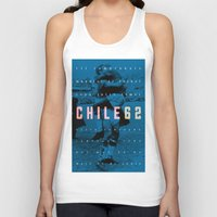 chile Tank Tops featuring World Cup: Chile 1962 by James Campbell Taylor