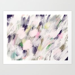 Paris Flowers Abstract Acrylic Art Art Print