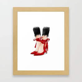 When in doubt wear red Framed Art Print