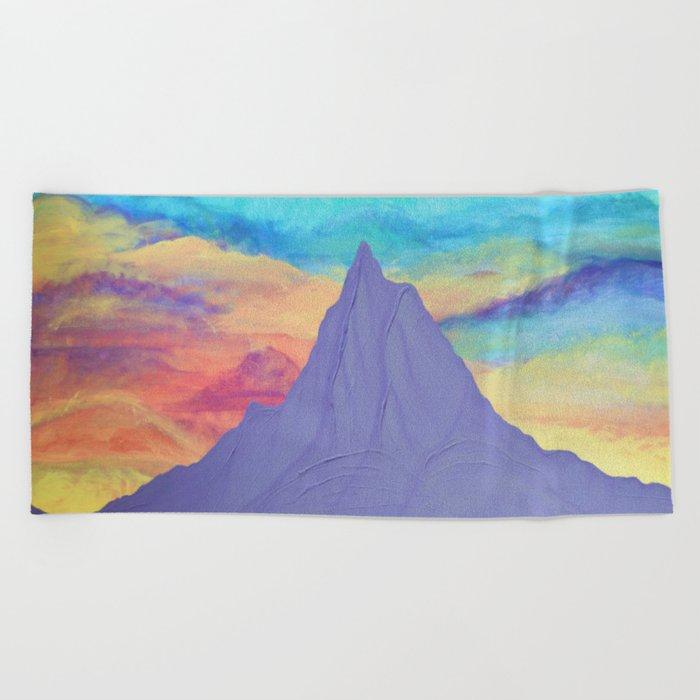 Mt. Hood Sunrise, Pacific Northwest Mountain Series Beach Towel