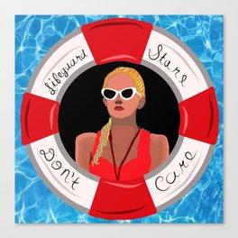 Lifeguard Stare Don't Care Canvas Print