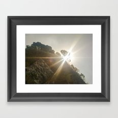 Shine Over Me Framed Art Print