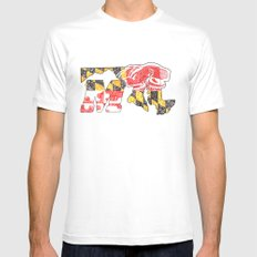 M for Maryland White Mens Fitted Tee MEDIUM