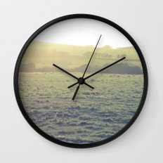 Light in the fields Wall Clock