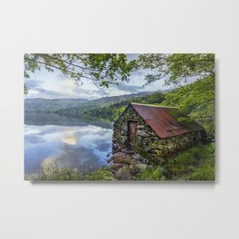 Llyn Gwynant Boathouse Metal Print