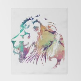 Lion of the Galaxy Throw Blanket