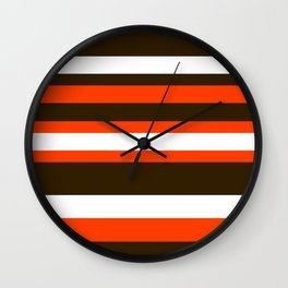Cleveland Colors Wall Clock