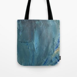 Turquoise Paint Tote Bag
