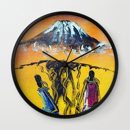 The Snows of Kilimanjaro Wall Clock