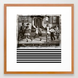 Ring Around the Rosie Framed Art Print