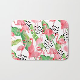 Flamingo Paradise Bath Mat