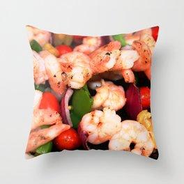 Shrimp on the Barbie Throw Pillow