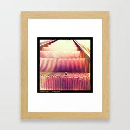 Domos Disobeying Proper Escalator Etiquette  Framed Art Print