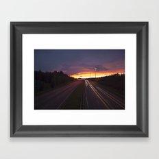 Sunset trails Framed Art Print